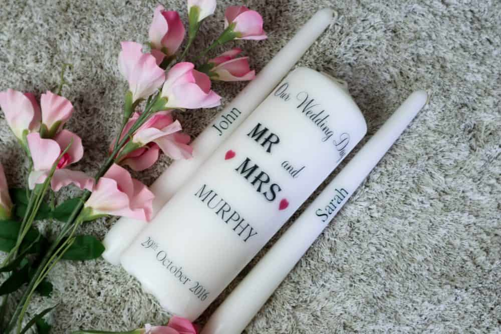 MR & MRS Wedding candles