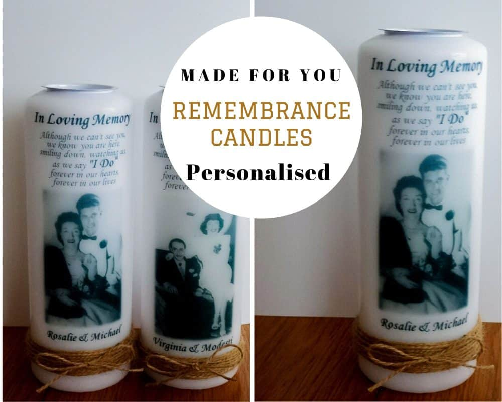Rustic Wedding remembrance candle