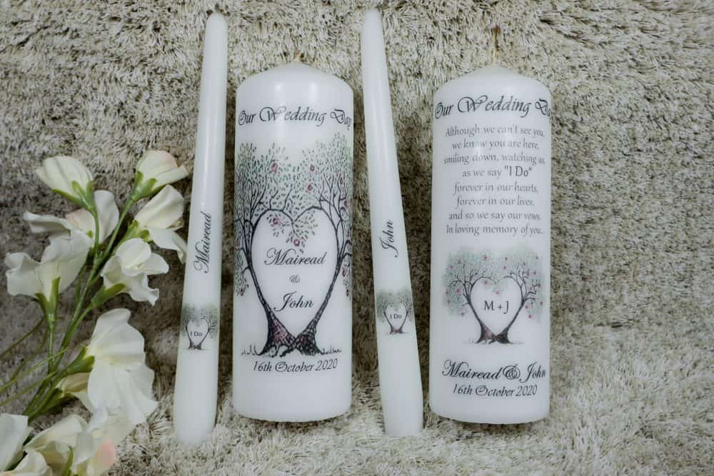 Love Tree Wedding candles