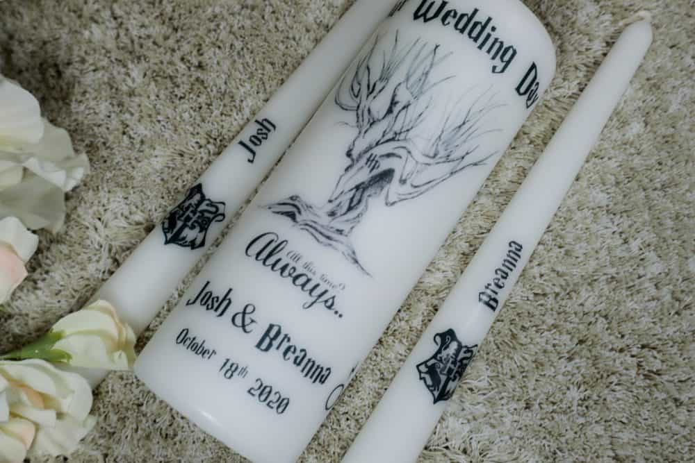 Harry Potter Wedding candles