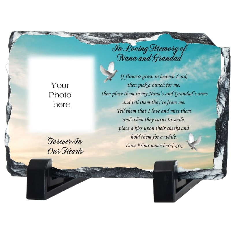 If Flowers grow in Heaven - Remembrance slate