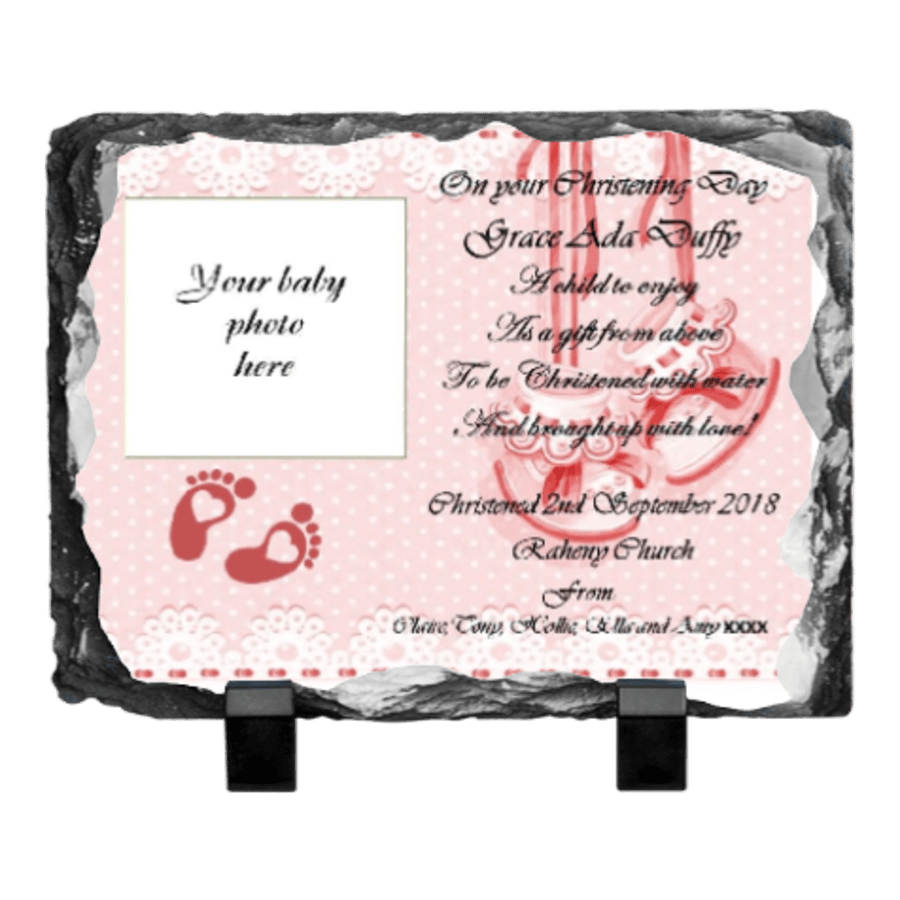 Christening Rock photo slate