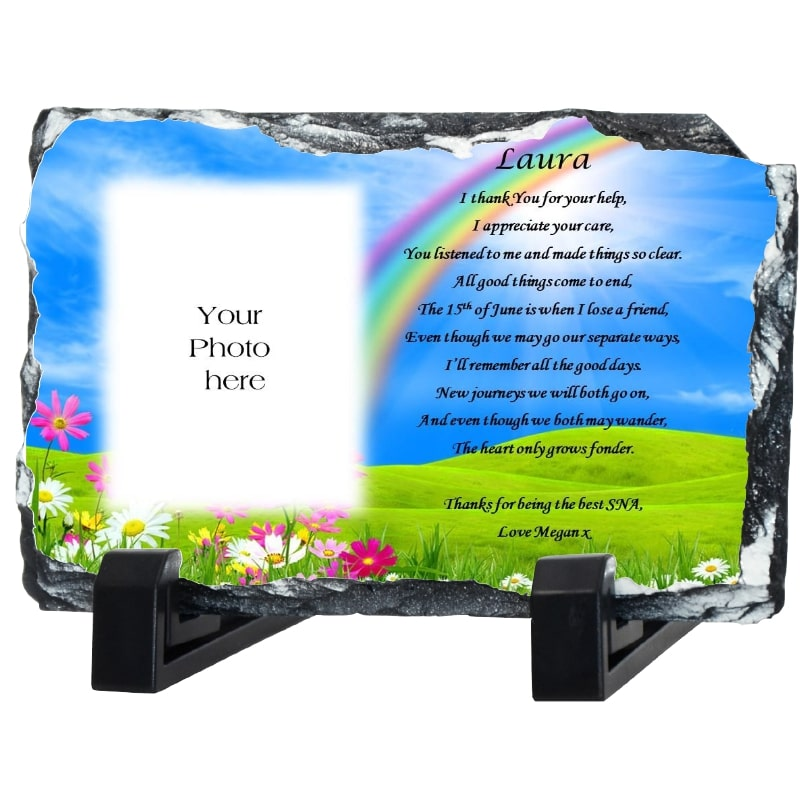 SNA gift -Thank You photo slate - Rainbow