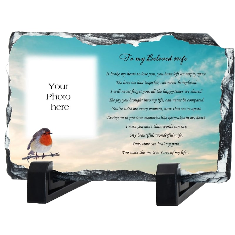 Wife Remembrance slate – To My Beloved Wife