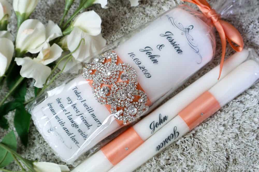 Bling & Glam Wedding Candles