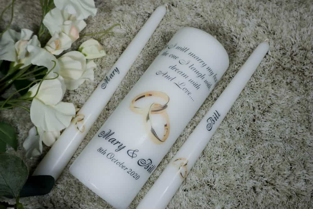 Personalised Wedding Unity candle – Today I will Marry