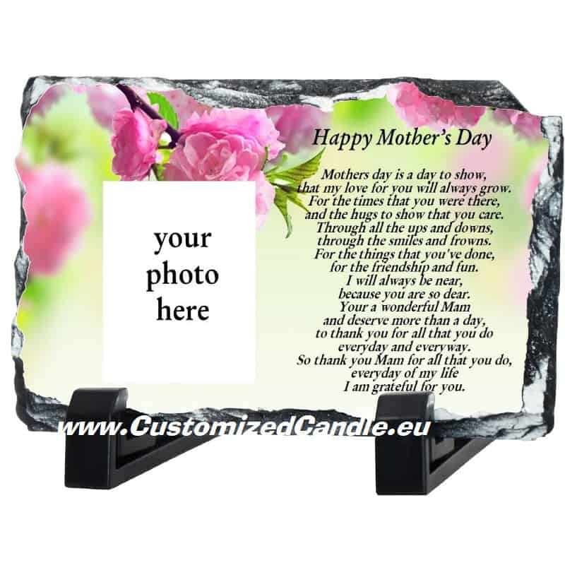 Mother's Day gift. Photo slate