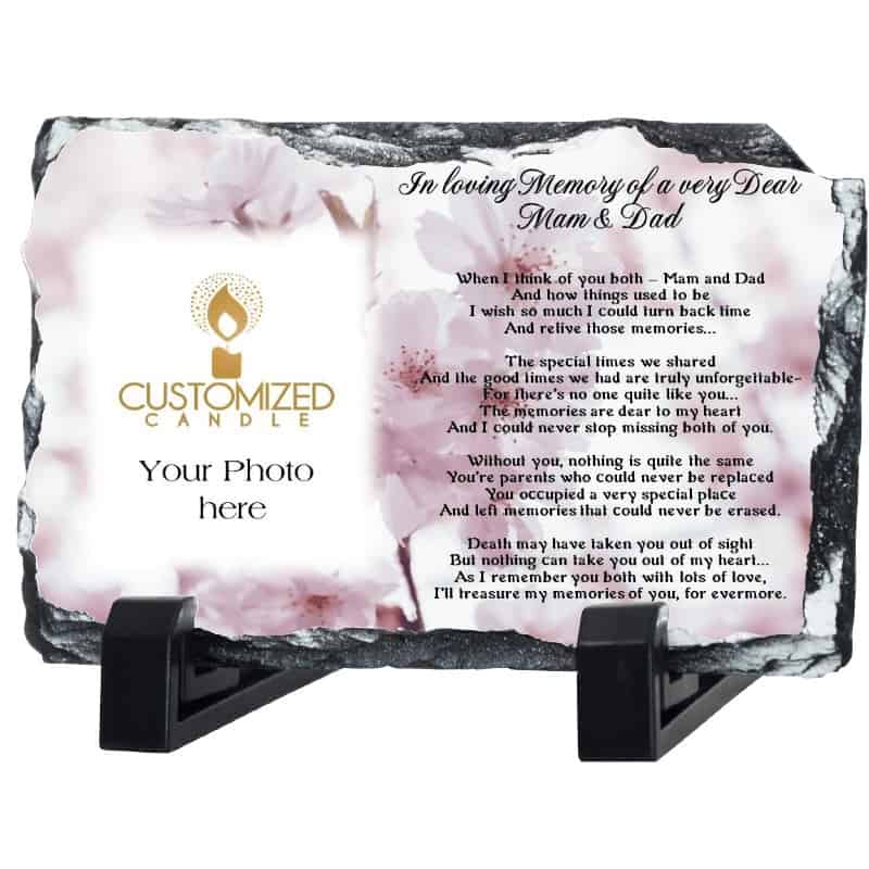 MAM & DAD REMEMBRANCE SLATE – DESIGN 3