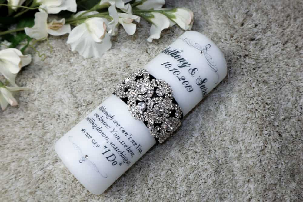 Bling & Glam Wedding Remembrance candle