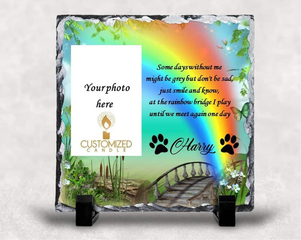 Pets remembrance slate – Under the Rainbow