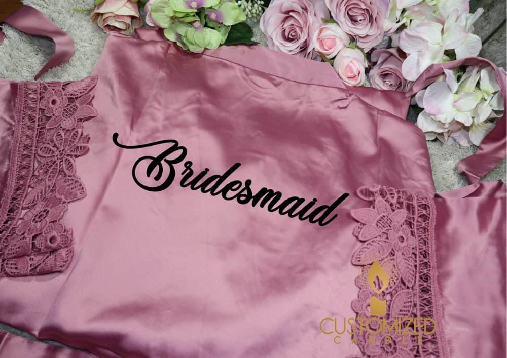 Personalised Bridal Lace Robes