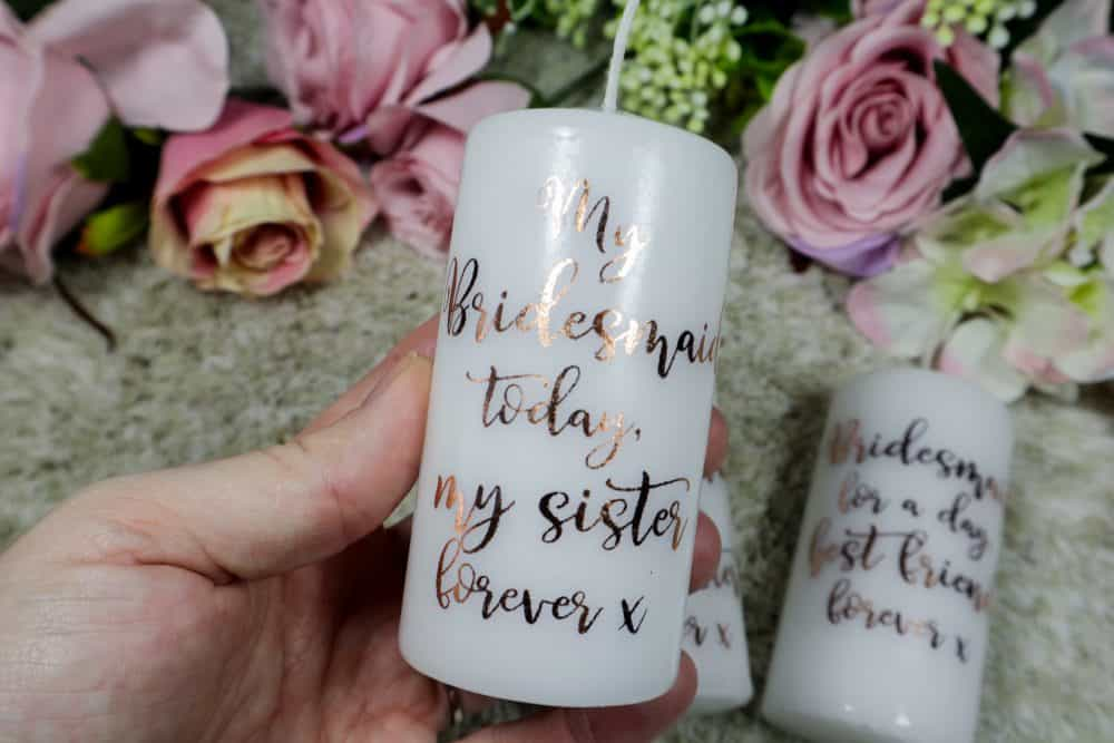 Bridesmaids candles