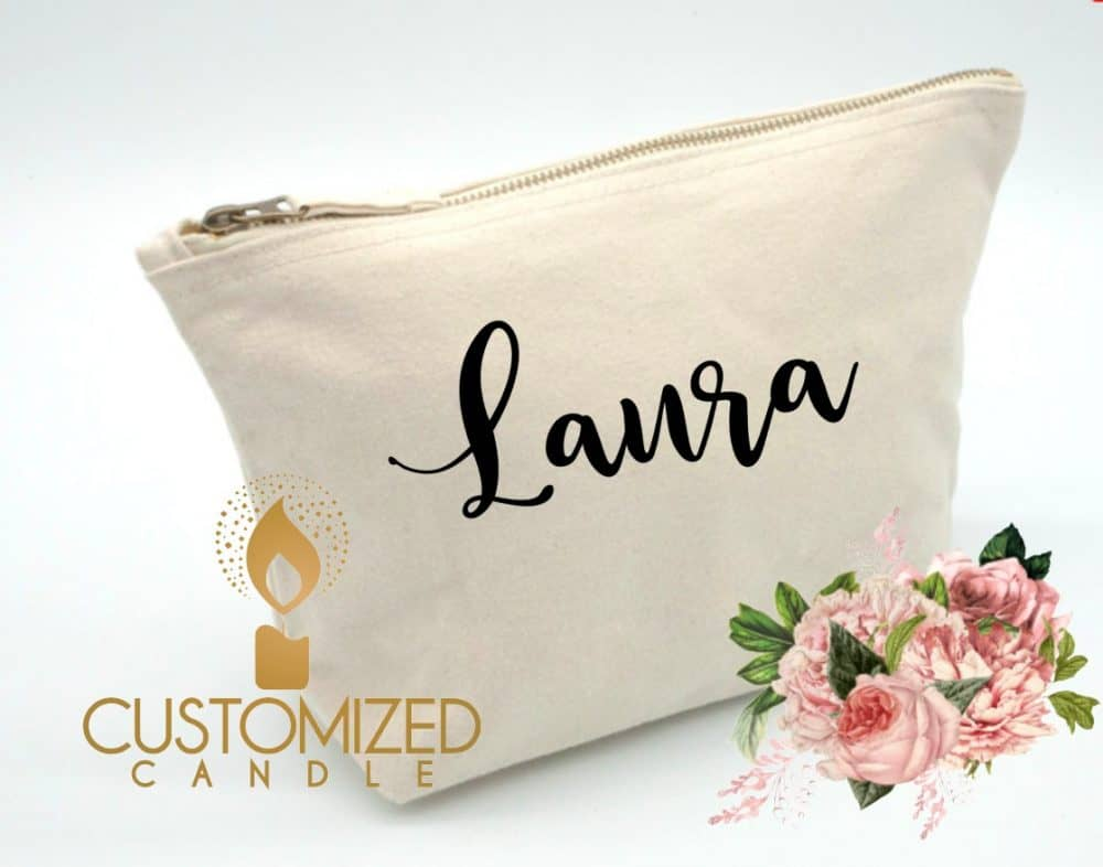 Personalised Make-up bag for Bride To Be, Bridesmaids, Maid of Honor