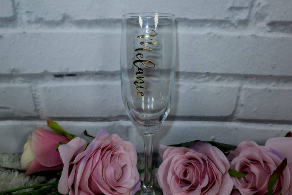 Personalised Glass flute