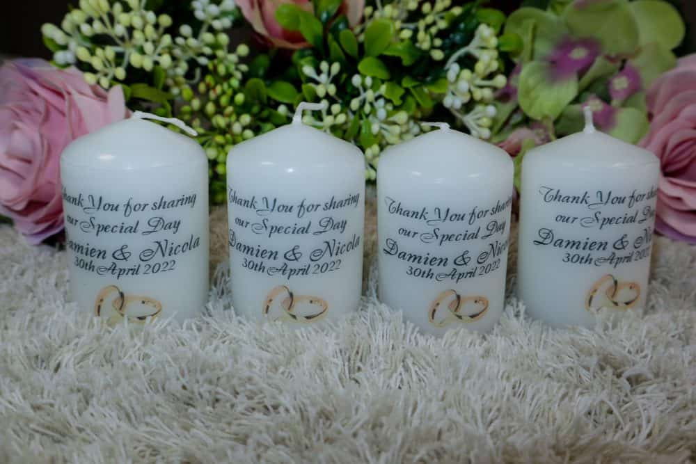 Wedding favour candles – Rings